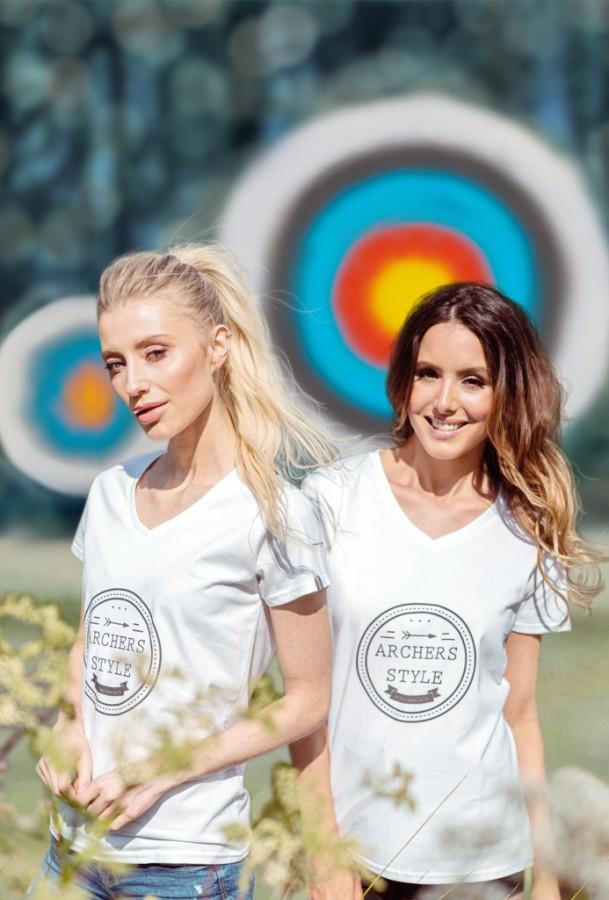 Bogensport Archery Damen T-Shirt Stamp