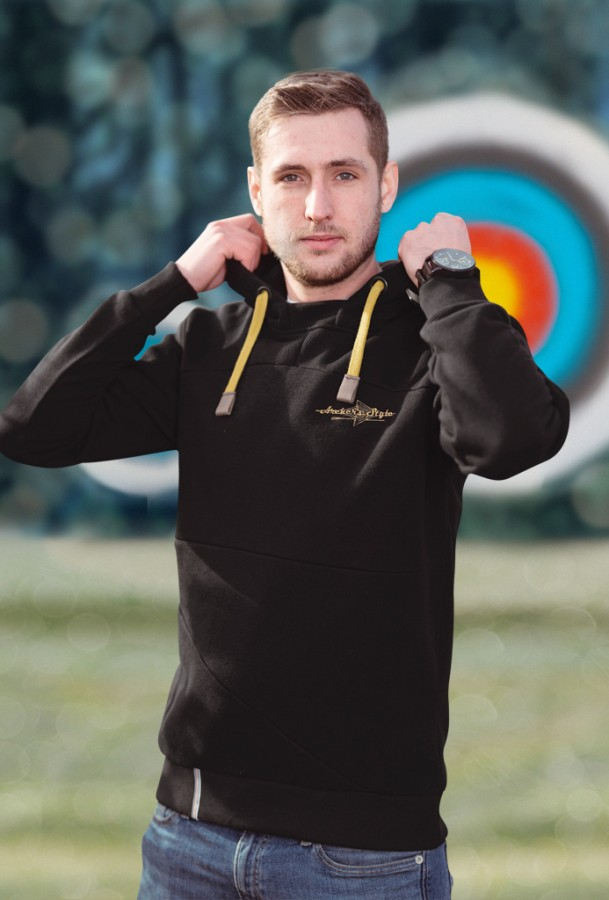 Bogensport Archery Herren Hoodie Archers Style (Schwarz)