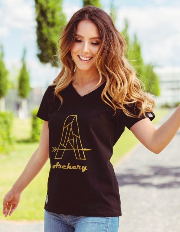 Bogensport Damen T-Shirt Archery Gold