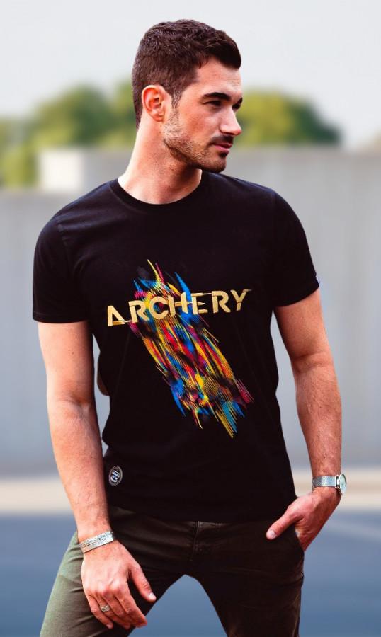 Bogensport Herren T-Shirt Archery (Schwarz)
