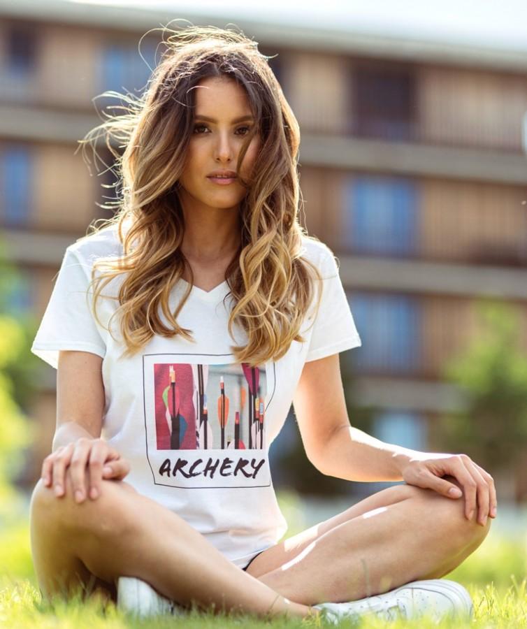 Bogensport Damen T-Shirt Arrows