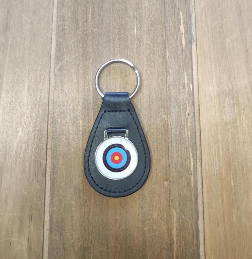 Schlüsselanhänger mit Leder